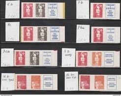 "LOT MARIANNE ADHESIFS ""TENANT à.."" Dont: 16bc/16b/5b/7c/7ca/8b/7b/7ba/ - Adhesive Stamps"