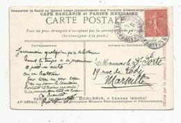 Cp , Publicité , CAFE BARLERIN  Et Farine MEXICAINE , à Tarare , 69 , Cannes , La Croisette , 2 Scans - Publicité