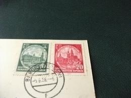 STORIA POSTALE FRANCOBOLLO DDR GERMANIA INSEL RUGEN  BERGEN  FERROVIE TRENI NAVI SHIP - Carte Geografiche