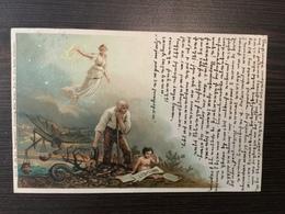 AK  ANGEL  ENGEL  LITHO  RÖSLER  SIGNED   1900. - Anges