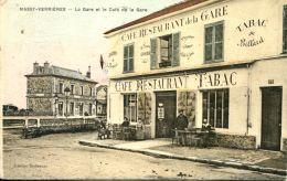 N°61856 -cpa Massy Verrières -le Café De La Gare- - Cafés