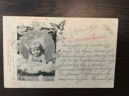 AK  ANGEL  ENGEL  WEIHNACHTEN  1900.  BUTTERFLY - Anges