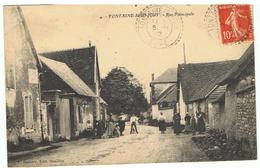 FONTAINE-SOUS-JOUY-RUE PRINCIPALE-EN 1912- - France