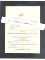 Faire-part De Décès M. Emmanuel Van TICHELEN , Football, Beerschot - ANTWERPEN, Anvers 1882 / 1948 - Wommelghem (b228) - Décès