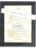 Faire-part De Décès M. Gustave MOYERSOEN  ép. De H. De Breyne - AALST 1876 / ANTWERPEN 1952 (b228) - Overlijden