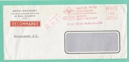 "LETTRE RECOMMANDÉE DE ""AGFA-GEVAERT"" AVEC E.M.A. DE RUEIL-MALMAISON. - Postmark Collection (Covers)"