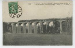 BRIVE (environs) - Le Grand Viaduc De PLANCHETORTE - Passage Du Train Rapide Toulouse - Paris - Brive La Gaillarde