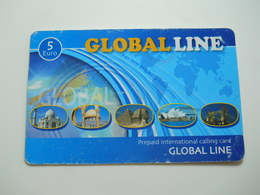 Phonecard * Global Line * 5 Euro - Unknown Origin