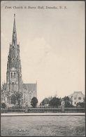 First Church & Burns Hall, Dunedin, C.1910 - Gold Medal Series Postcard - New Zealand