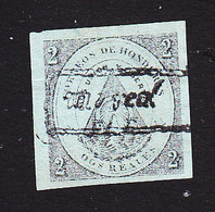 Honduras, Scott #7, Mint No Gum, Coat Of Arms, Issued 1877 - Honduras