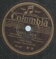 "78 Tours - TINO ROSSI  - COLUMBIA 39  "" SANTA LUCIA "" + "" CATARI ! CATARI L "" - 78 T - Disques Pour Gramophone"