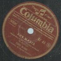 "78 Tours - TINO ROSSI  - COLUMBIA 41  "" AVE MARIA "" + "" AVE MARIA "" - 78 Rpm - Gramophone Records"