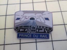 Pin113c Pin's Pins / Beau Et Rare / THEME : TRANSPORTS / LOCOMOTIVE MOTRICE TUNNEL SOUS LA MANCHE ? PRINCE DU RAIL - Transportation
