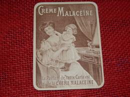 """CHROMO  -  Publicité """" Crème Malacéine """"  ( 7.5  X 10 Cm) - Andere"""