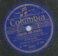"""78 Tours - TINO ROSSI  - COLUMBIA 199  """" CHANSON AUX NUAGES """" + """" TANGO D'UN SOIR """" - 78 T - Disques Pour Gramophone"""