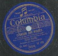 "78 Tours - TINO ROSSI  - COLUMBIA 199  "" CHANSON AUX NUAGES "" + "" TANGO D'UN SOIR "" - 78 Rpm - Gramophone Records"