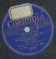 "78 Tours - TINO ROSSI  - COLUMBIA 236  "" ANGELINA "" + "" TOUT BLEU "" - 78 T - Disques Pour Gramophone"