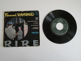 Fernand Raynaud - C'est étudié Pour !, Le Tweed / Le Taxiphone, Balendar à La Guerre (1955)- Vinyle 45 T Philips - Humour, Cabaret
