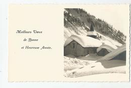 74 Haute Savoie - Chamonix Carte Photo De Tairraz Meilleurs Voeux Et Heureuse Année - 2 Scans - Chamonix-Mont-Blanc