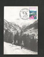 CARTE MAXIMUM 1972 ANNEE TOURISME PEDESTRE à FLORAC LOZERE - Cartas Máxima