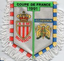 Fanion Du Match AS Monaco / FC Gueugnon Coupe De France 1991 - Habillement, Souvenirs & Autres