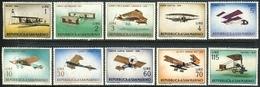 "1972 San Marino Complete MNH Set Of 10 Stamps ""Vintage Airplanes"" Michel 719-728 - San Marino"