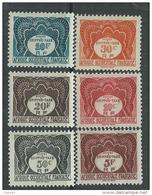 A. O. F. Taxe N° 1 / 10 X    La Série Des  10  Valeurs Trace De Charnière Sinon TB - A.O.F. (1934-1959)