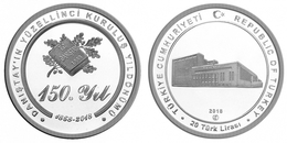 AC - 150th YEAR OF COUNCIL OF STATE TURKEY 1868 - 2018 COMMEMORATIVE SILVER COIN PROOF - UNCIRCULATED TURKEY, 2018 - Turquia