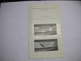 ORISTANO  --- IMPRESE IDRAULICHE  ED ELETTRICHE DEL TIRSO-- DIGA DI S. CHIARA  1921 - Italia