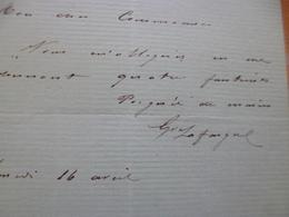 LAS Autographe Lafargue Socialiste Liè à J.Guesde En Tête Figaro 16 Avril - Autografi
