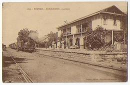 Cpa Bon Etat , Soudan ,  Koulikoro , La Gare , Animation,  Locomotive En Gare, Voir Courrier Au Verso , Carte Rare - Eritrea