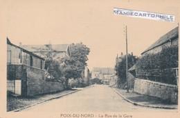 POIX DU NORD - Dépt 59 - La Rue De La Gare  - CPA - France