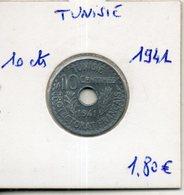 Tunisie. 10 Centimes 1941 - Túnez