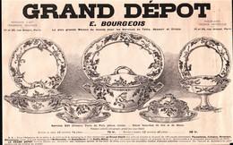 Illustration 1908 - Grand Dépot E. Bourgeois 21, 23 Rue Drouot Paris - Werbung