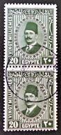 ROYAUME - ROI FOUAD 1ER 1927/32 - BELLE OBLITERATION SUR PAIRE VERTICALE - YT 125 - Egypt