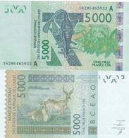 West African States / Ivory Coast - 5000 Francs 2016 AUNC Letter A Ukr-OP - Bankbiljetten