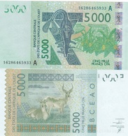 West African States / Ivory Coast - 5000 Francs 2016 AUNC Letter A Ukr-OP - Andere - Afrika