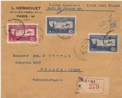 Lettre Recommandée Poste Aérienne Pour Prague - Poste Aérienne