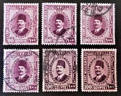 ROYAUME - ROI FOUAD 1ER 1927/32 - OBLITERES - YT 127 - VARIETES DE TEINTES ET D'OBLITERATIONS - Egypt