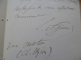LAS Autographe Louis Figuier à Cocquerel Physique Machine à Vapeur Menton à Propos De Notes Publiées - Autógrafos