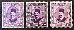 ROYAUME - ROI FOUAD 1ER 1927/32 - OBLITERES - YT 128 - VARIETES DE TEINTES ET D'OBLITERATIONS - Egypt
