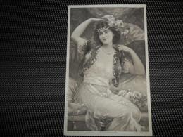 Femme ( 506 )  Vrouw   Illustrateur  B. Faustin   Femme Art Nouveau - Autres Illustrateurs