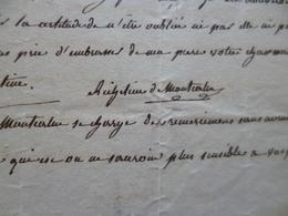 LAS Autographe A. De Plessis De Richelieu De Montierlin à Monsieur De Forton Début 19ème Remerciements Et Soutien - Autógrafos