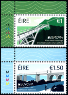 """IRELAND/Irland/Eire EUROPA 2018 """"Bridges"""" Set Of 2v** - 2018"""
