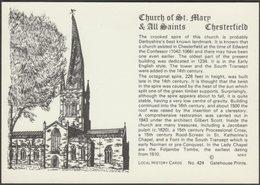 Church Of St Mary & All Saints, Chesterfield, Derbyshire, C.1980s - Gatehouse Postcard - Derbyshire