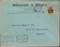 "BELGIUM BELGIQUE WW1 COVER ""MENAGE JOWA "" FROM LUTTICH LIEGE  TO BRUSSELS - [OC1/25] General Gov."