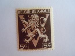 Belgie Belgique 1944 Heraldieke Leeuw Bevrijding Libération  COB 674 A MH * - Belgien