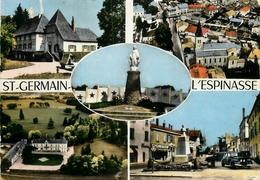 SAINT GERMAIN L'ESPINASSE - LE BOURG - CHATEAU - FAMILISTERE - AUTOMOBILES ANCIENNES - France