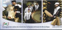 """Pub """" Le COMTE"""" - Equipes De France De Ski Nordique - France"""