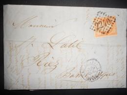 France Napoleon , Lettre De Marseille 1866 Pour Riez - 1862 Napoleon III